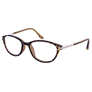 The Marilyn Vintage 1950s Pointed Cat Eye Reading Glasses For Women, Retro Fashion Designer Cat Eye Readers in Brown Tortoise +1.75 (Microfiber Carrying Case Included)