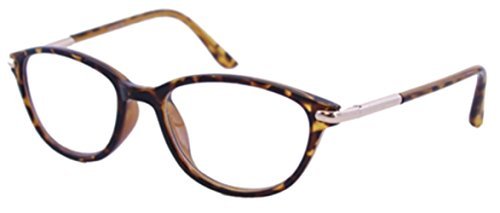 The Marilyn Vintage 1950s Pointed Cat Eye Reading Glasses For Women, Retro Fashion Designer Cat Eye Readers in Brown Tortoise +1.50 (Microfiber Carrying Case - Glass Pointed
