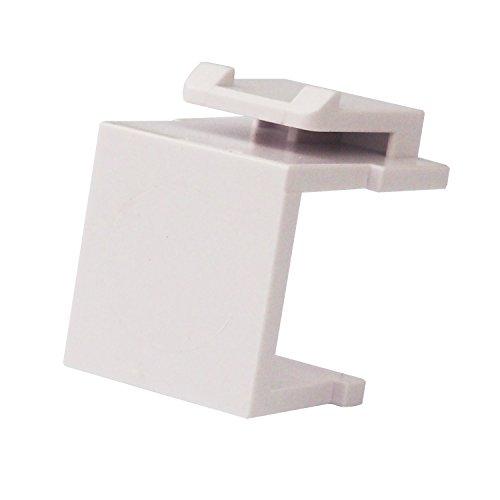 LINKOMM (10 Pack) Multimedia Blank Keystone Jack Insert for Wall Plate, White (Insert Blank White Keystone)