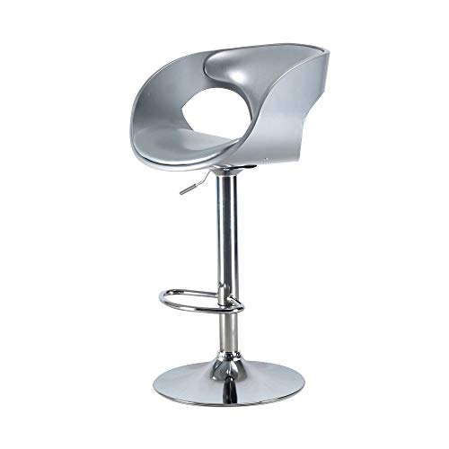 Delacora BIBS004SVC Merlyn 39 Inch Tall Metal Adjustable Height Bar Stool from Delacora