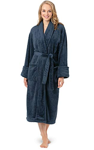 - PajamaGram Womens Bathrobe Ultra Soft - Women's Fleece Robes, Indigo, XS/S, 2-6