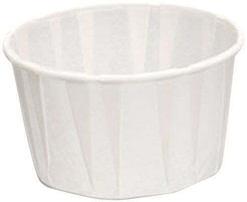 White Treated Paper Souffle Portion Cups - Oz cups- for Measuring, Medicine, Samples, Jello Shots Pack of 250 (4 oz)