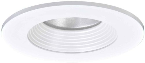 HALO Recessed TL403WBS 4-Inch LED Trim Shower Rated Solite Regressed Lens Baffle and Matte White Ring