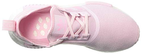 adidas Originals Unisex NMD_R1 Running Shoe Clear Shock Pink/White, 3.5 M US Big Kid by adidas Originals (Image #7)