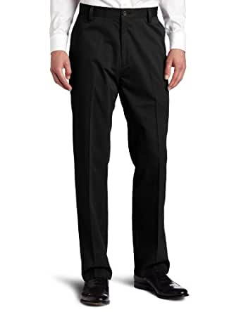 Dockers Men's Easy Khaki D3 Classic-Fit Flat-Front Pant, Black, 36W x 32L