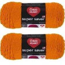 Bulk Buy: Red Heart Super Saver (2-pack) (Pumpkin, 7 oz each (Cowl In Pumpkin)