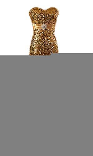 Ballkleid Sequin Damen Fanciest Meerjungfrau 2016 Abendkleider Partykleid Gold FwIFqpET