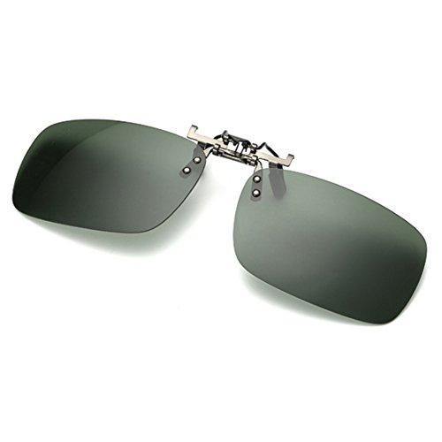 pêche Foncé extérieure Vert conduite myopie les de lunettes des pour polarisé clip soleil lunettes Huicai sur de unisexe x4fRCwnqZ