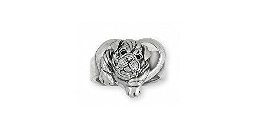 Bulldog Jewelry Sterling Silver Bulldog Ring Handmade Dog Jewelry BD29S-R