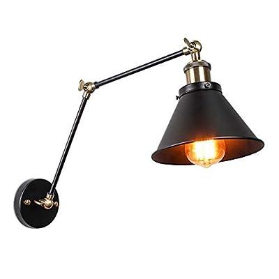 ASCELINA Vintage Industrial Wall Lamp Loft Creative Swing Arm Balcony Stair Porch Restaurant Bar Bedroom Retro Iron Art Light
