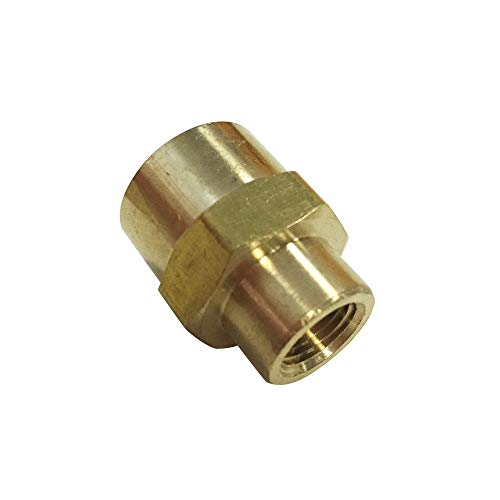 Threaded Red Brass Coupling - Legines Brass Pipe and Welding Fitting, Reducing Coupling, 1/4
