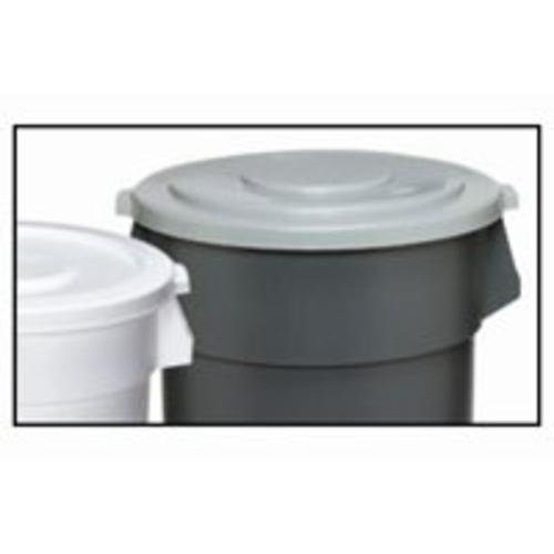 (Continental 2001GY 20-Gallon Huskee LLDPE Waste Lid, Round, Grey)