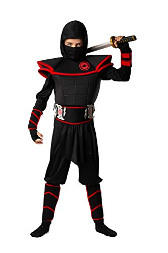 Kids Ninja Costume by BadBear - Boys or Girls Fancy Dress Ninja Costume - 7pc Ninja Halloween Costume for Boys - Premium Quality Toddler Ninja Costumer from