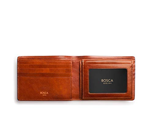 Wallet Credit Men's Dolce Passcase ID Bosca Collection Amber w Card dtqnXt1cw