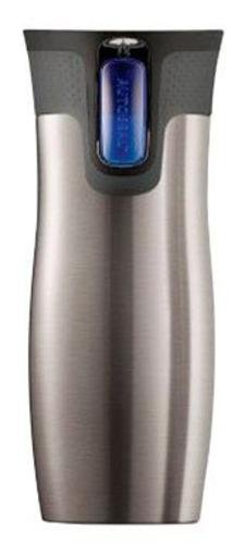 Contigo AUTOSEAL Stainless Steel Vacuum Insulated Tumbler, 16 Ounces, Silver