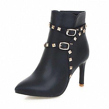 RTRY Zapatos De Mujer De Piel Sintética Pu Novedad Moda Otoño Invierno Confort Botas Botas Chunky Talón Señaló Toe Botines/Botines De Remache Parte US10.5 / EU42 / UK8.5 / CN43