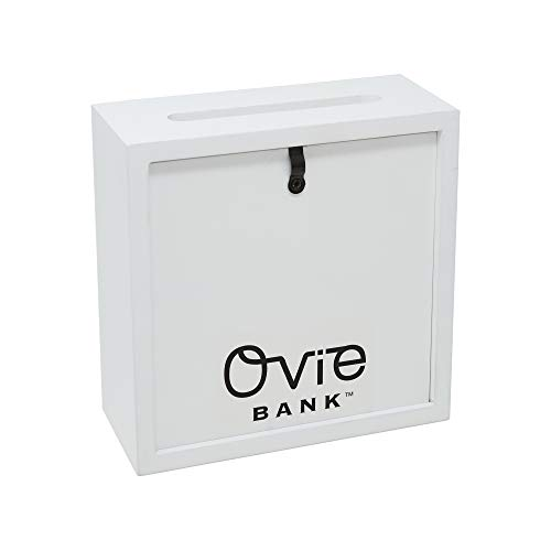 OVIE Adult Piggy Bank $ - Shadow Box with Wood Frame - Keep in Kitchen to Track Vacation/Honeymoon/Wedding/Adventure Funds - 6X6 Frames - Clear Glass/Picture Background/Colored Markers by OVIE (Image #5)