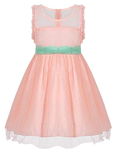 Bonny Billy Toddlers Baby Girls O-Neck Solid Tulle Party Wedding Dress 2-3t Pink