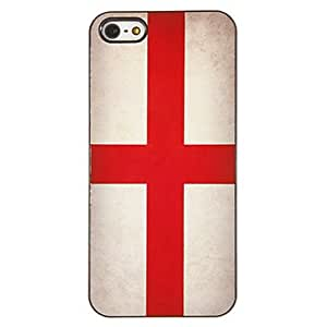 Buy Flag of England Pattern PC Hard Case with 3 Packed HD Screen Protectors for iPhone 5/5S