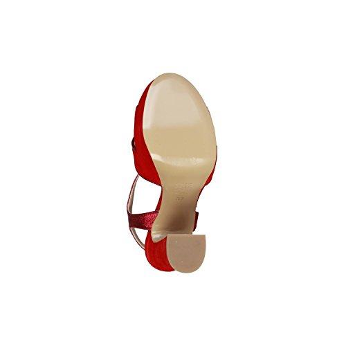 PIERRE CARDIN PIERRE CARDIN EW-1013 Sandales Femme Avec Sangle Réglable À La Cheville Talon: 13 cm, Plateau 4 cm