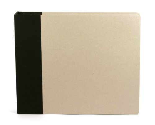 12 x 12-inch Modern D-Ring Chipboard Album by American Crafts | Black | Includes 5 free page protectors ()