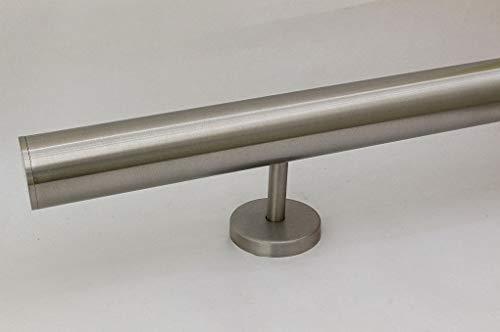 zum Beispiel: L/änge 60 cm mit 2 Halter Edelstahlhandlauf L/änge 0,3m Enden mit leicht gew/ölbte Kappe 6m aus einem St/ück und unterschiedlichen Endst/ücken zum Ausw/ählen /Ø 33,7 mm mit gerade Halter