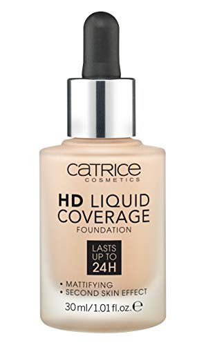 Catrice | HD Liquid Coverage Foundation | High & Natural Coverage | Vegan & Cruelty Free (020 | Rose Beige)