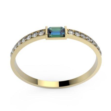 PLESS Bagues Or Jaune 18 carats Saphir Bleu 0,6 Princesse