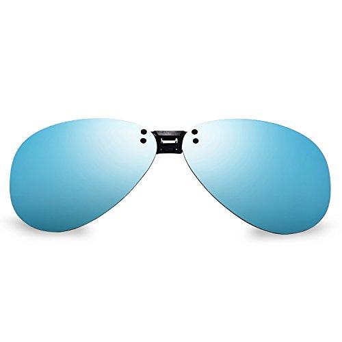 Bellbesson Polarized Clip-on Flip up Clip Classic Aviator Sunglasses Lenses UV400 - Flip Up Aviators