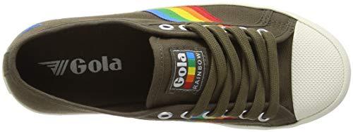 Gola Coaster Kaki Rainbow Femme Baskets B8wq4B