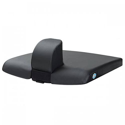 Image of Lacura Removable Pommel Cushion, 16' x 16', Wheelchair Cushion with Detachable Pommel, Soft Antimicrobial Padding Straps to Wheelchair for Secure and Safe Use, Pommel Cushion for Hip Posture