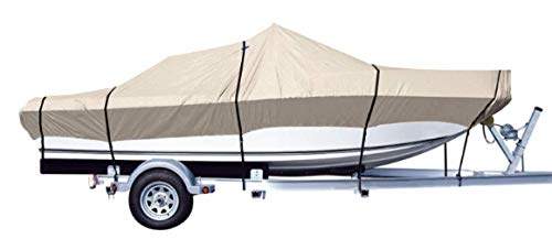 iCOVER Trailerable Boat Cover- Water Proof Heavy Duty,Fits V-Hull,Fish&Ski,Pro-Style,Utility Boat, Fishing Boat,Runabout,Bass Boat,up to 16ft-17ft Long and 94