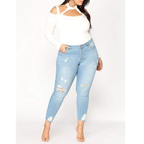 Size Femme Color Jeans 6XL Jeans Skinny Haute en Taille MALLTY Taille Stretch 1 Haute Style Stretch Style 2 Jean n1a7PZxZ