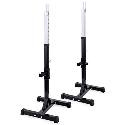 TNP Accessories Adjustable Heavy Duty Squat Rack Stand Power Weight Bench Sup.