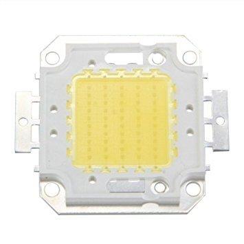 TOOGOO(R)High Power 50W LED chip bulb light lamp DIY White 3800LM 6500K
