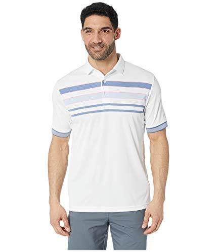 Callaway Short Sleeve Birdseye Block Polo, Bright White, X-Large ()