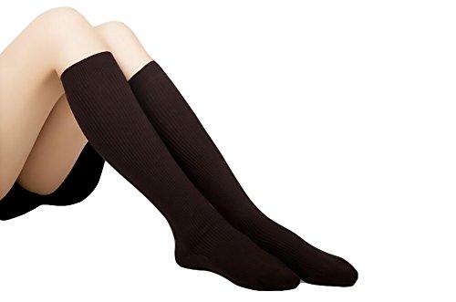 KINGDESON Women's Pure Color Cotton Antislip Knee High Socks Dress Socks (Greek Letterman Jacket)