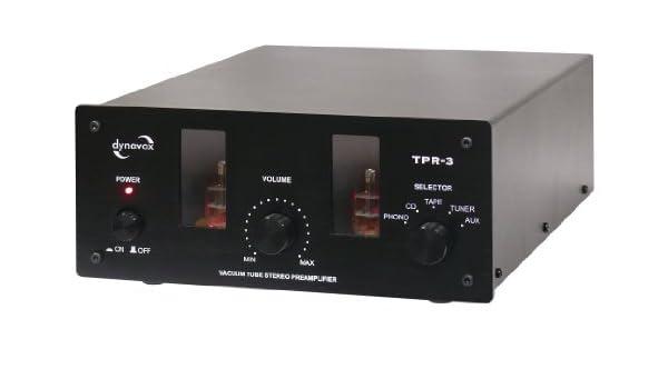 Dynavox TPR-3 - Amplificador valvular, color negro: Amazon.es ...