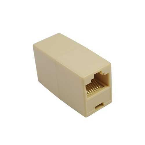 RJ45 Ethernet cable connector, F-to-F type, Almond color Almond F Connectors