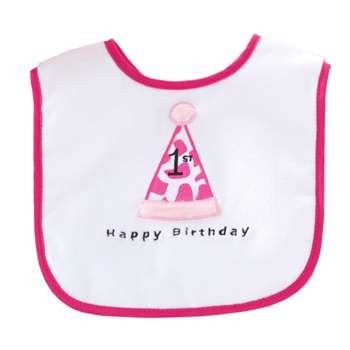Image Unavailable. Image not available for. Color  Cone Hat 1st Birthday Bib 0e7b628c9e8