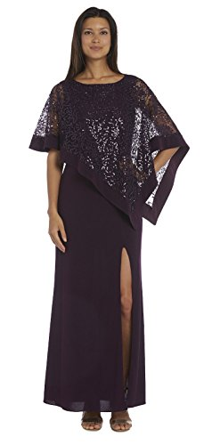 R&M Richards Long Mother of The Bride Formal Dress with Pancho