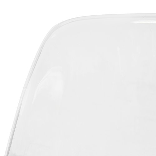 LeisureMod Calbert Molded Plastic Dining Chair with Acrylic Eiffel Base (Clear) by LeisureMod (Image #5)