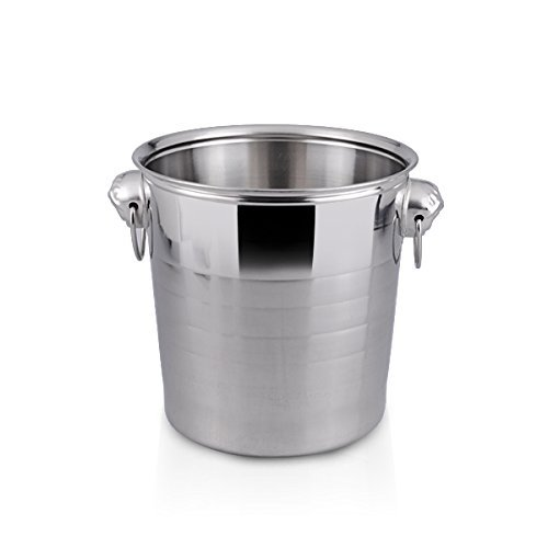 Romance Helpers Nobo Large 5.5 Liter 6 Quart Stainless Steel Cheap Champagne Ice Bucket Wine Chiller Cooler by Romance Helpers