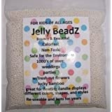 8oz -Almost 15,000 Jelly BeadZ Water Bead Gel - WHITE- Heat Sealed Bag- Water Pearls Gel Beads- Wedding & Event Centerpieces