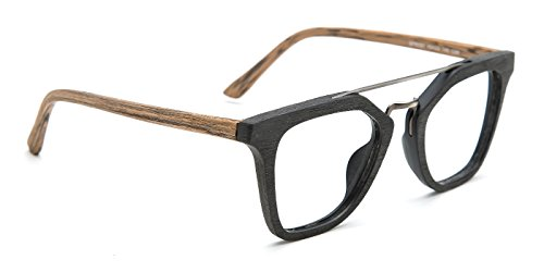 TIJN Mens Stylish Woodgrain Eyeglasses Frame Faux Wooden - Wood Cheap Glasses Frame