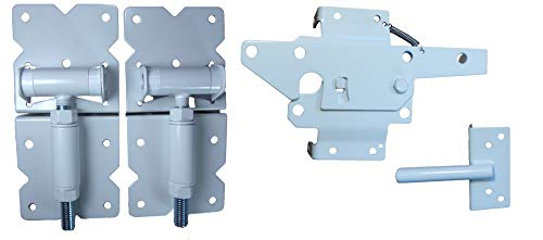 Vinyl Fence Hardware - Single Gate Kit - White (Vinyl Gate Hinges and Latch)