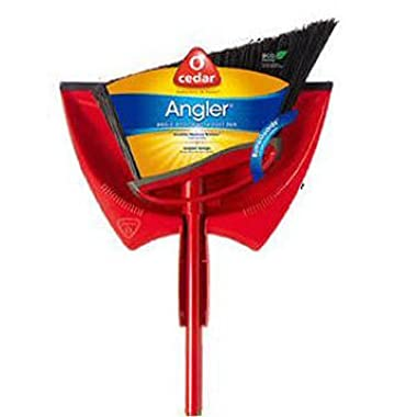 O-Cedar Power Corner Angle Broom with Dust Pan