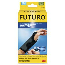 Wrist Brace, Reversible, 5-1/2''''-8-1/2'''', Latex Free, Black, Sold as 1 Each