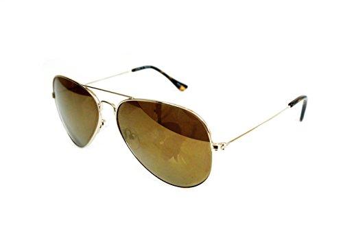 Joes Womens Gold Aviator Sunglasses JJ 6016 - Jeans Joe's Sunglasses