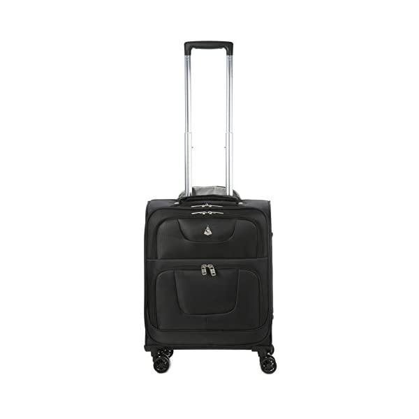 "Aerolite 55x40x20cm RYANAIR MAX CABIN SIZE 38 Litre Super Lightweight Travel Carry On Hand Luggage Suitcase with 8 Wheels, Also Approved for Easyjet, British Airways and Many More! (21"", Black) - luggage"